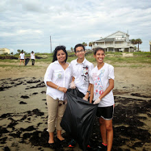 Photo: Sewa Day 2014 in Houston: Wonderful weather and great job cleaning up Galveston Beach!