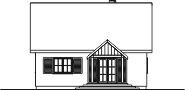Domek Ciepły 012 ET 50 - Elewacja tylna