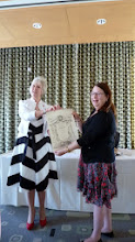 Photo: Ellie Clavier Rothstein accepts Charter for Montreal Branch