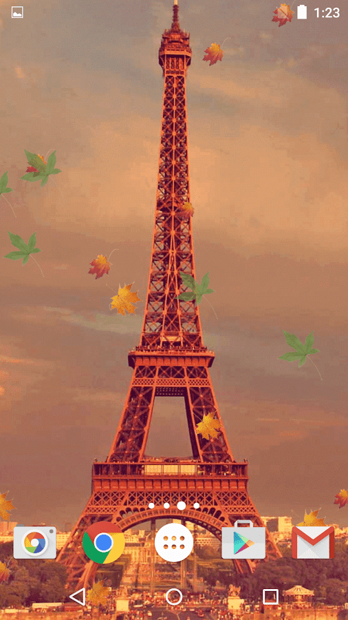 Fall Season Live Wallpaper For Android Autumn In Paris Live Wallpaper Android Apps On Google Play