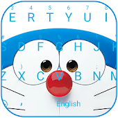 Blue Robot Cat Theme&Emoji Keyboard
