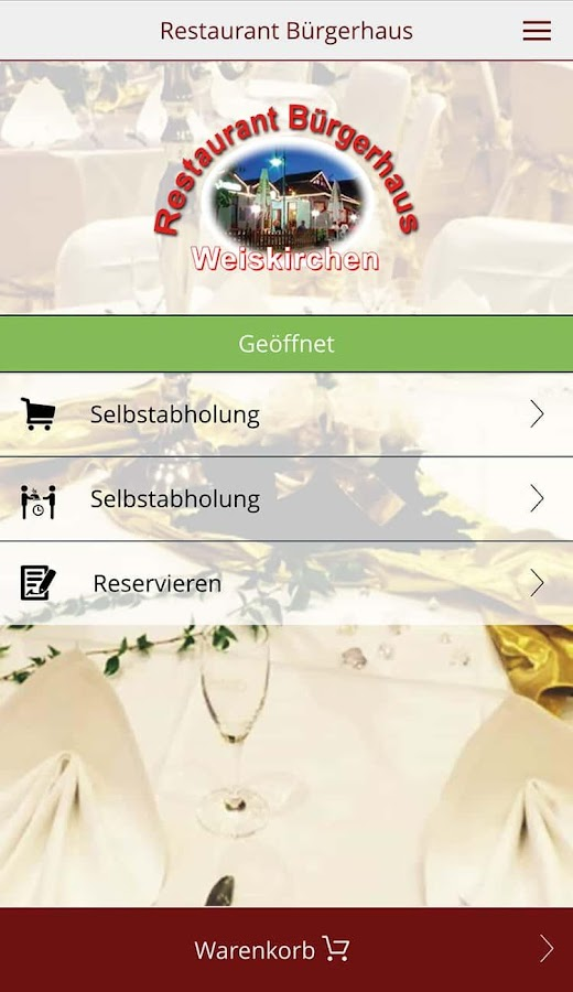Restaurant Bürgerhaus- screenshot