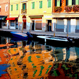 Murano Afternoon by Timothy Carney - City,  Street & Park  Street Scenes ( venice, reflections, murano, italy )
