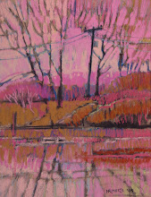 Photo: Delta Series, Pink, pastel by Nancy Roberts, copyright 2014. Private collection.