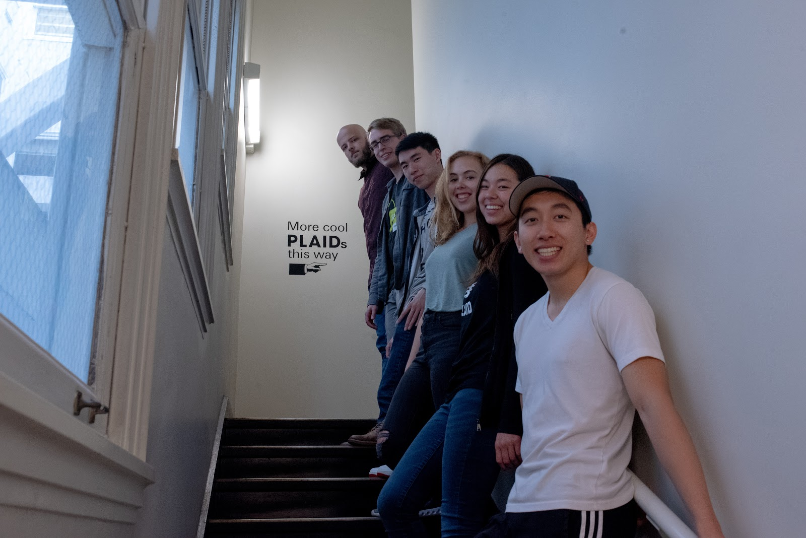 The Plintern team from front to back: Andrew Chen, Jennifer McCleary, Sarafina Smith, Lujing Cen, Owen Gillespie, and Jarrod Dunne. Not pictured: Eric Fortney