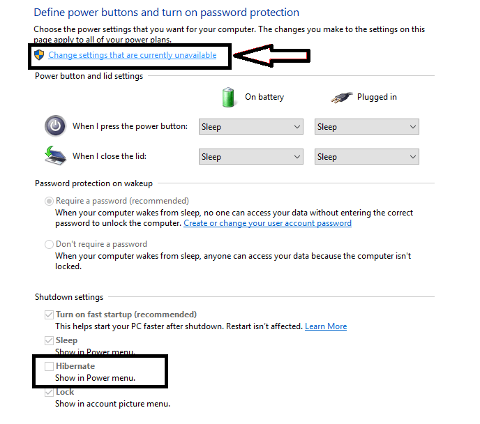 Enable Hibernate option to your Windows 10 PC with the Power option