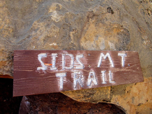 Sid's Mountain Trail sign