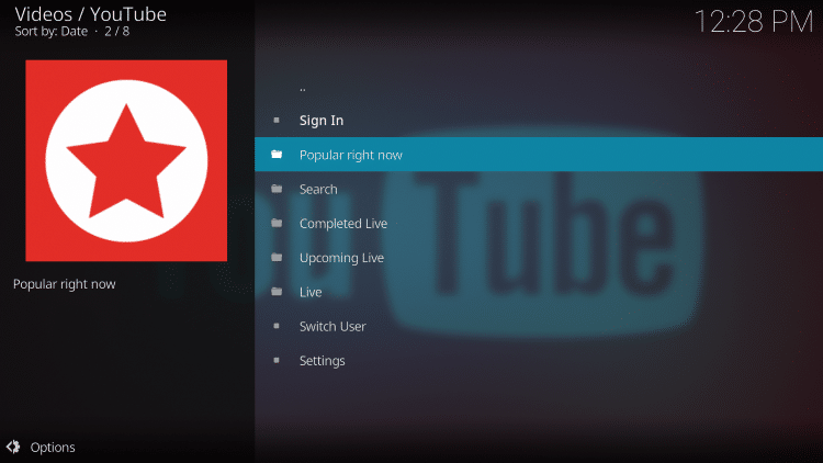 With the YouTube Kodi add-on, your streaming options will be endless.
