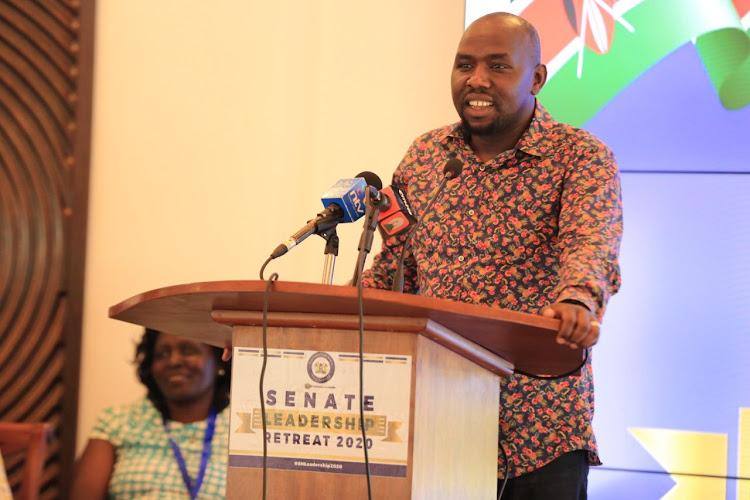 Elgeyo Makakwet Senator Kipchumba Murkomen.