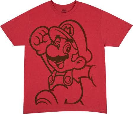 T-Shirt - Mario Big Print