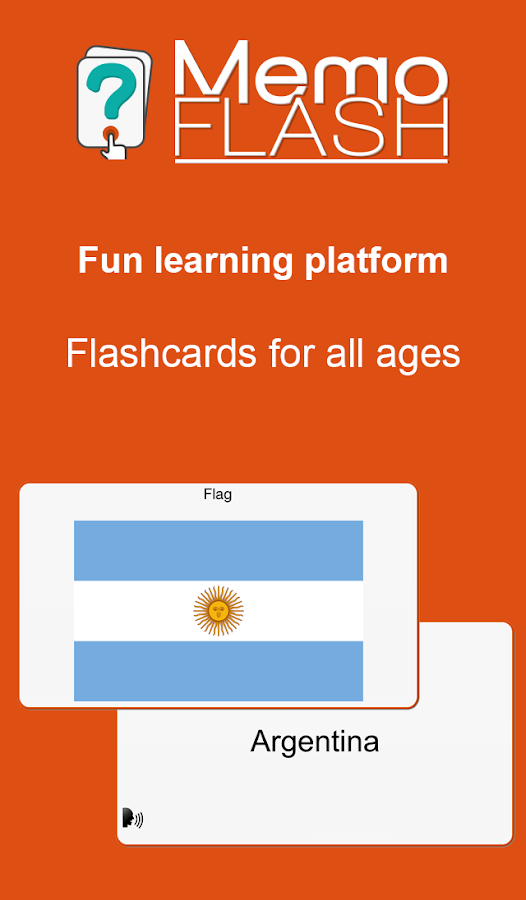 Memo Flash - fun flashcards- screenshot