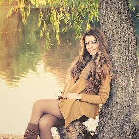 Autumnal Beauty by Florin Gorgan - People Portraits of Women ( fashion, editorial, park, beautiful, romania, beauty, portrait, glamour, bucharest, sexy, girl, nature, season, autumn, outdoor, nikon )