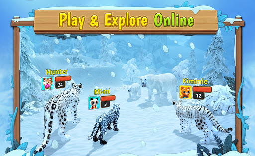 Snow Leopard Family Sim Online apkpoly screenshots 3