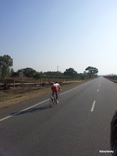 Photo: Another SKCT rider after being distanced by the peloton..