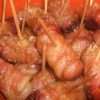 Sweet & Savory Bacon Wrapped Smokies