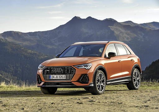 The new Q3 grabs the more aggressive front-end styling cues from the recently-launched Q8, including a darker grille and thinner standard LED headlights. Picture: SUPPLIED