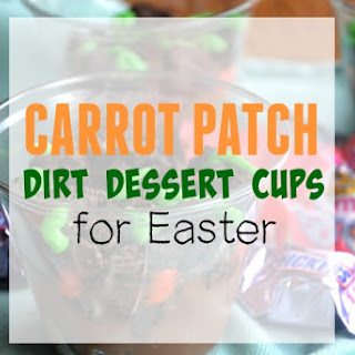 Carrot Patch Dirt Dessert Cups for Easter.