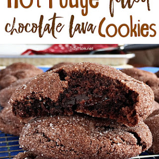 Hot Fudge Filled Chocolate Lava Cookies