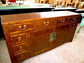 Photo: F 006 Chinese Cabinet with Brown Leather lacquer Finished $1,200