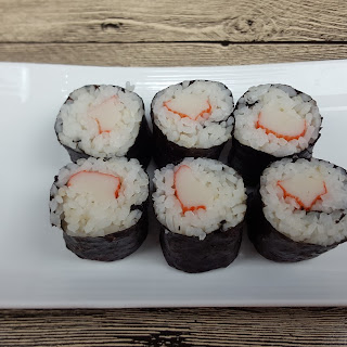 Crab Stick Sushi Roll