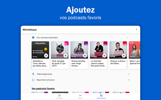 Radio France - podcasts, direct radios 6.5.2 screenshots 10