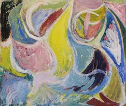 Photo: Komposition, 1944, olie på hessian, 137,5 x 160,7 cm.