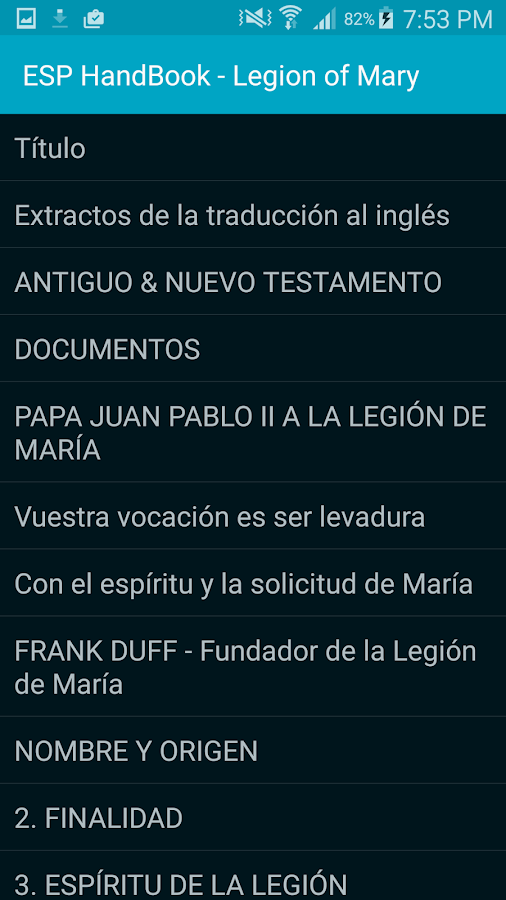 Manual Legión de María- screenshot