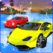 Water Surfing Car Racing 3D