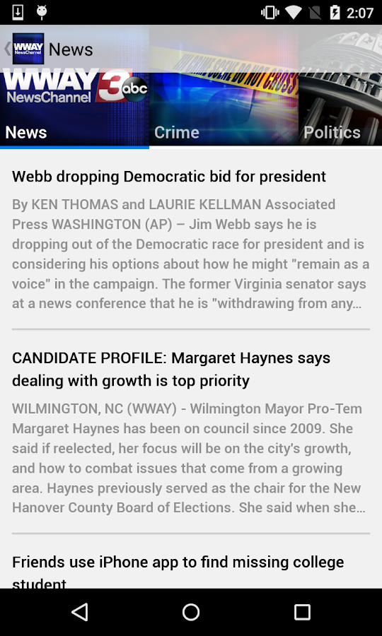 WWAY NewsChannel 3- screenshot