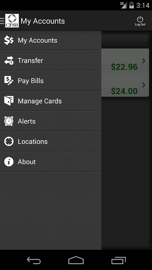 CFSB Mobile Banking- screenshot