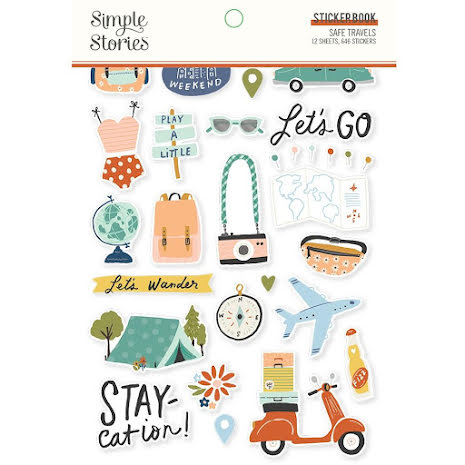 Simple Stories Sticker Book 4X6 12/Pkg - Safe Travels