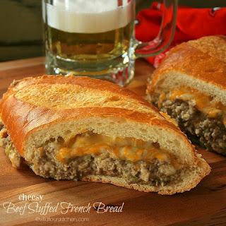Cheesy Beef Stuffed French Bread Recipe