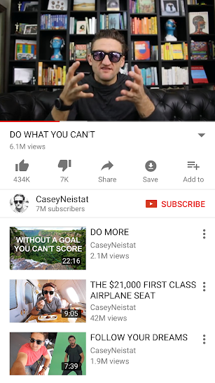 YouTube screenshot for Android