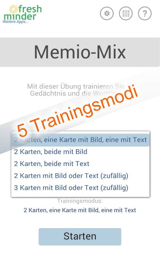 Memio-Mix - Gehirntraining- screenshot