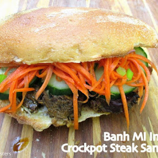 Saucy Mama Giveaway & Banh Mi Inspired Crockpot Steak Sandwiches