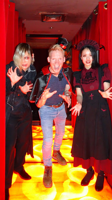 visiting the Vampire Cafe in Tokyo for a bloody satanic adventure in Tokyo, Tokyo, Japan