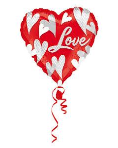 Folieballong, hjärta love