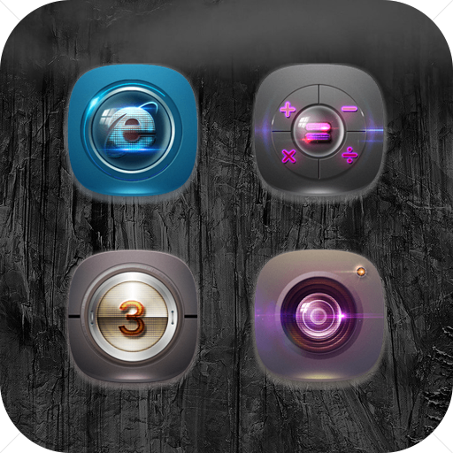 High Tech Texture Camera Iens Icon Pack