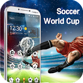 World Cup football theme 3D