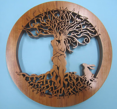 Entwined Lovers /Tree of Life Pattern by Fiona Kingdon