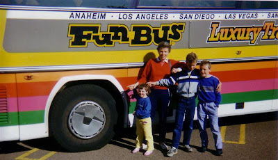 The tyre on our bus to San Diego burst.....we had to wait a while for a replacement bus