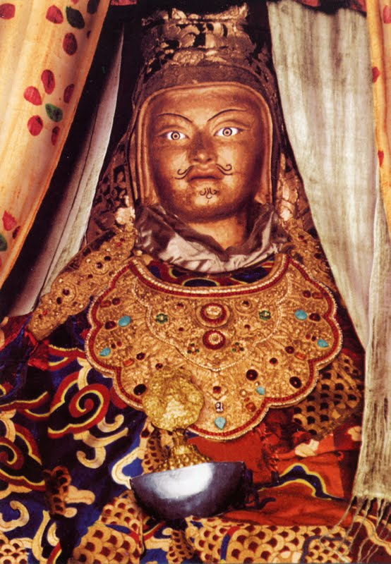"""The very famous Padmasambhava statue that is called """"Looks Like Me"""" in Tibet that Lama Zopa Rinpoche often uses as an example"""