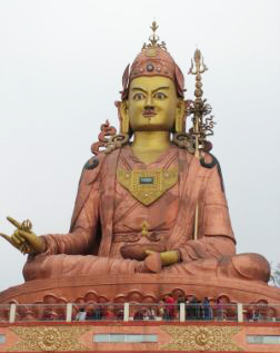 Lama Zopa Rinpoche and students visited this large statue of Padmasambhava in Sikkim