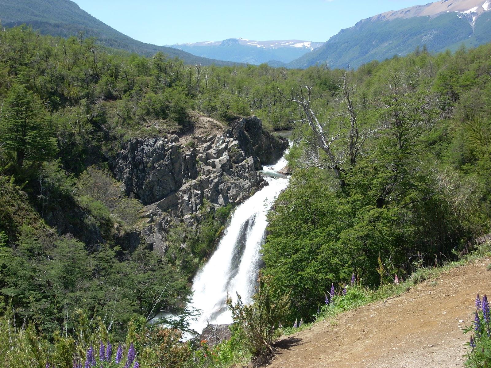 Waterfalls along the way