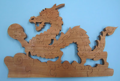Dragon Puzzle Pattern the the REAL John A. Nelson Cherry