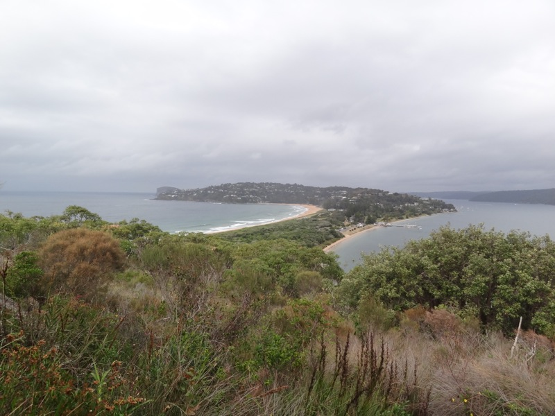 Palm Bay on the left, The Pittwater on the right