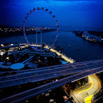 Jenson Button on the Marina bay Singapore track