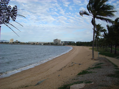 he beach over the road from my hotel in Townsville