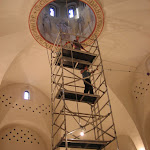 Чистка храма внутри и снаружи. Cleaning of the church inside and outside.