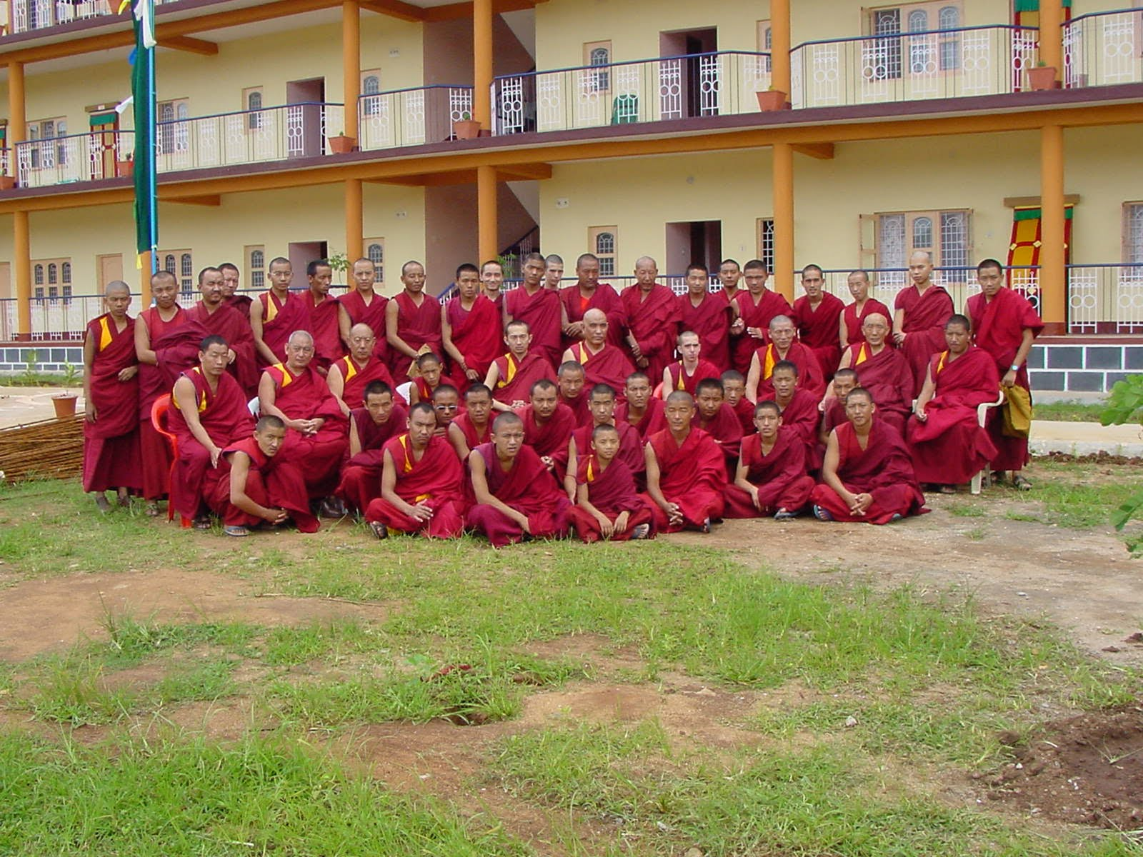 Osel Hita and monks of Osel Labrang
